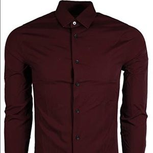 Express Maroon dress shirt